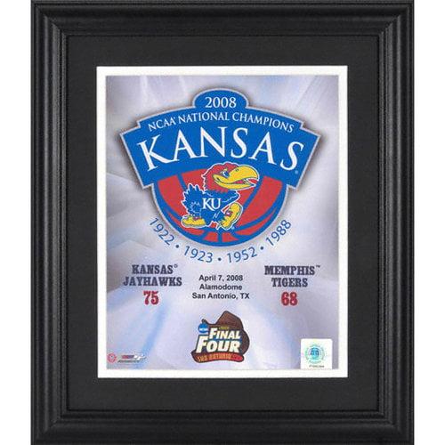 NCAA - Kansas Jayhawks 2008 NCAA Men's Basketball Champions Framed Unsigned 8x10 Photograph