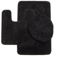 3-Piece Bathroom Set Bath Mat, Contour, and Lid Cover, with Rubber Backing #6