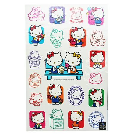 Hello Kitty Having Fun With Friends Temporary Tattoo Set (21