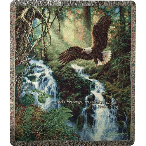Manual Woodworkers & Weavers Eagles Flight Verse Cotton Throw