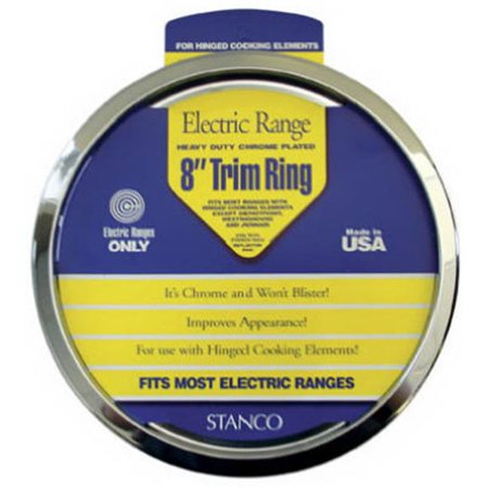 Stanco Metal Prod UKT-8 Electric Range Trim Ring, Chrome-Plated, 8-In. (Stanco Metal)
