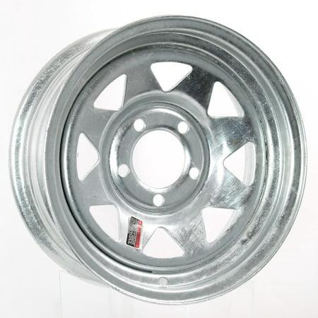 Trailer Rim Wheel 14 x 6 in. 14x6 5 Lug Hole Bolt Wheel Galvanized Spoke Design ()