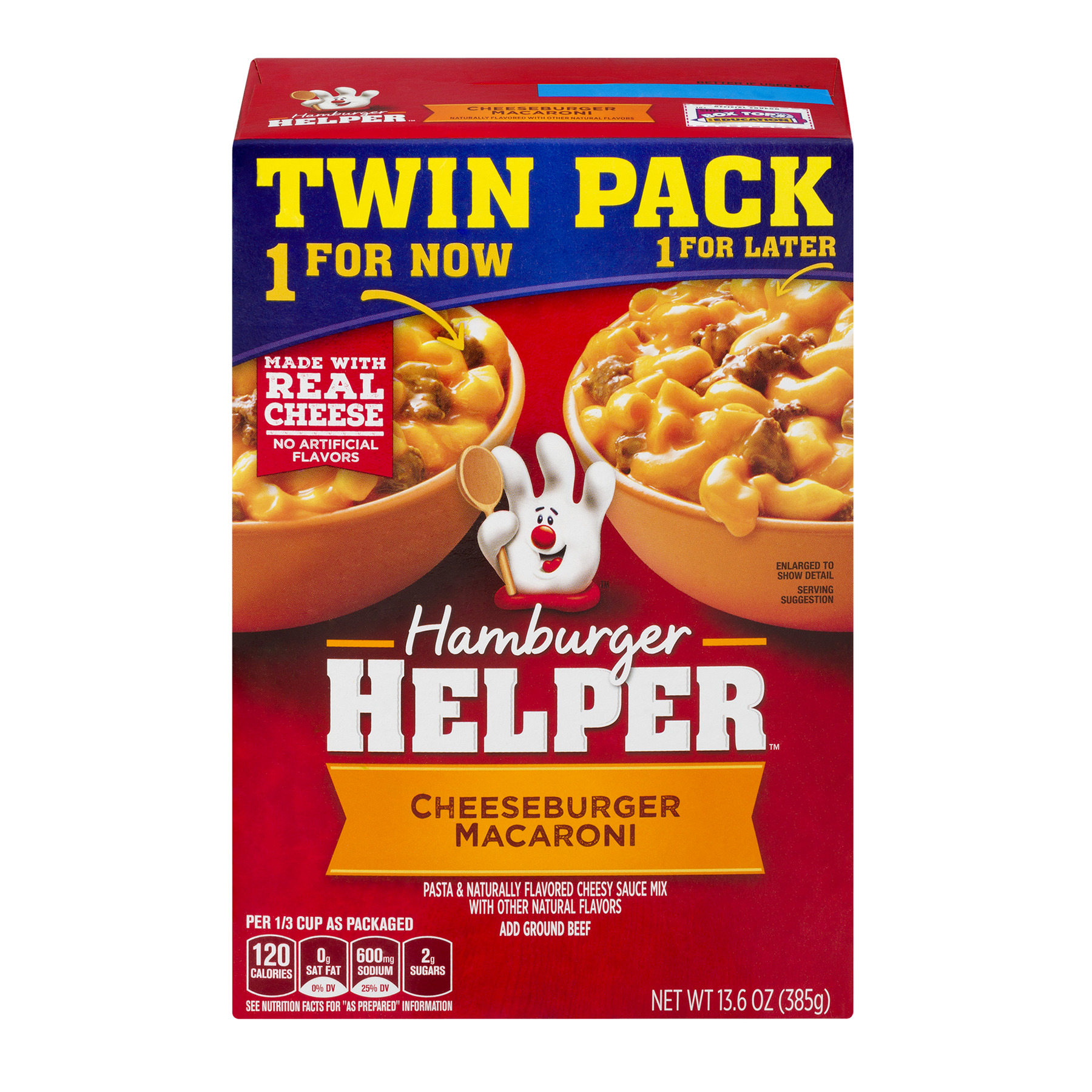 Betty Crocker Cheeseburger Macaroni Hamburger Helper 13.6 oz. Box