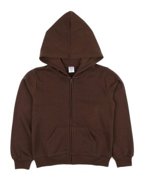 Leveret Kids & Toddler Boys Girls Sweatshirt Hoodie Jacket Variety of Colors (Size 2-14 Years) (Brown, 14 Years)