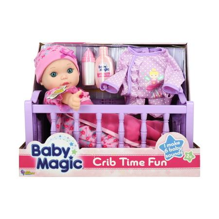 Baby Magic Toy Baby Doll Crib Time Fun Play Set Walmart Com
