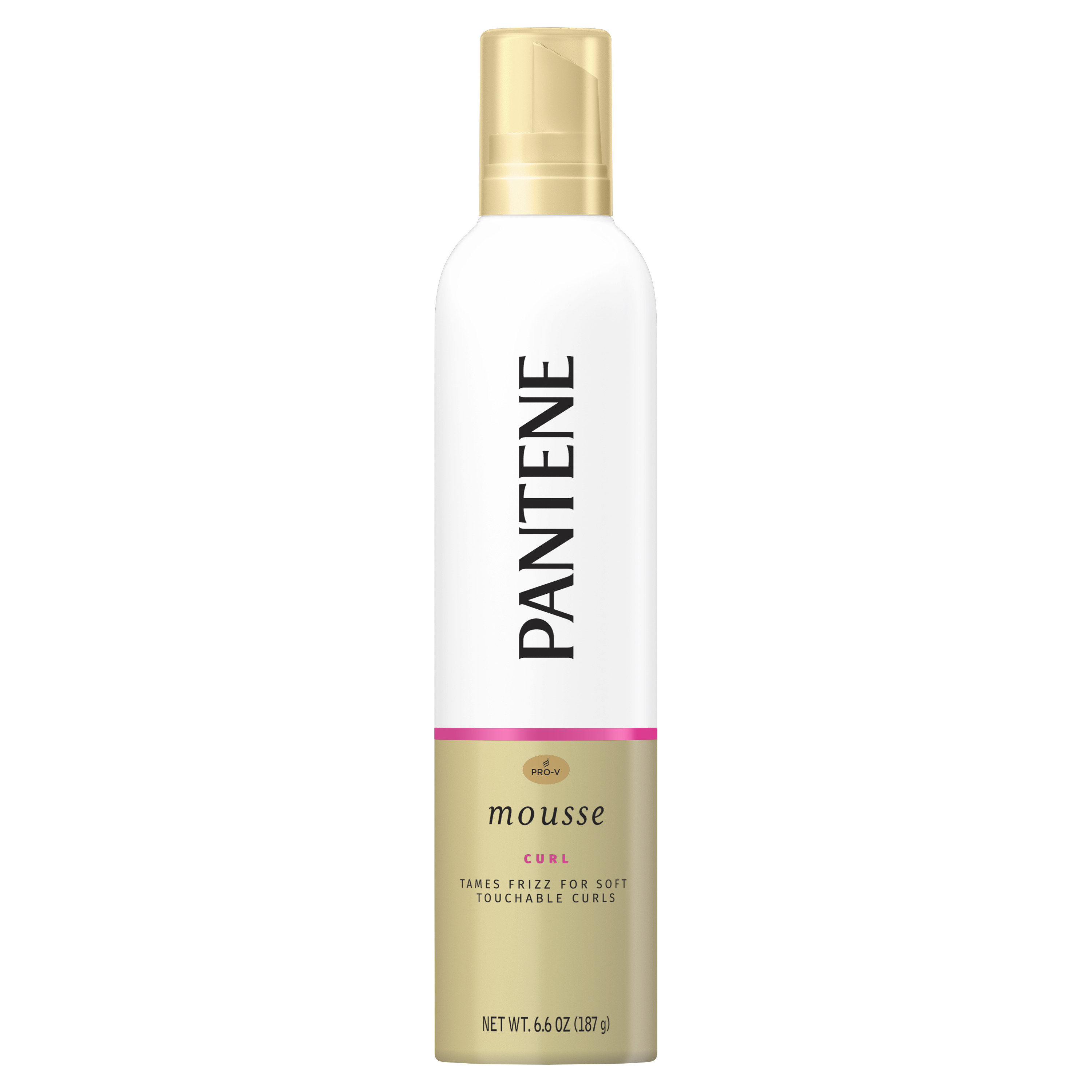 Pantene Pro-V Curl Mousse to Tame Frizz for Soft, Touchable Curls, 6.6 oz