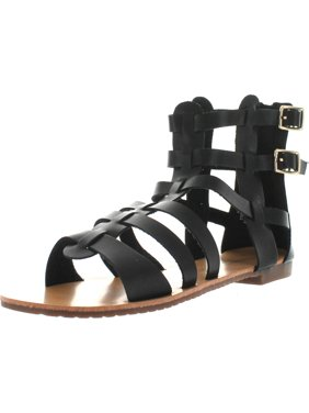 6ddc83f91 Free shipping. Product Image De Blossom Xara-4 Vegan Leather Casual High  Strappy Gladiator Flat Sandal