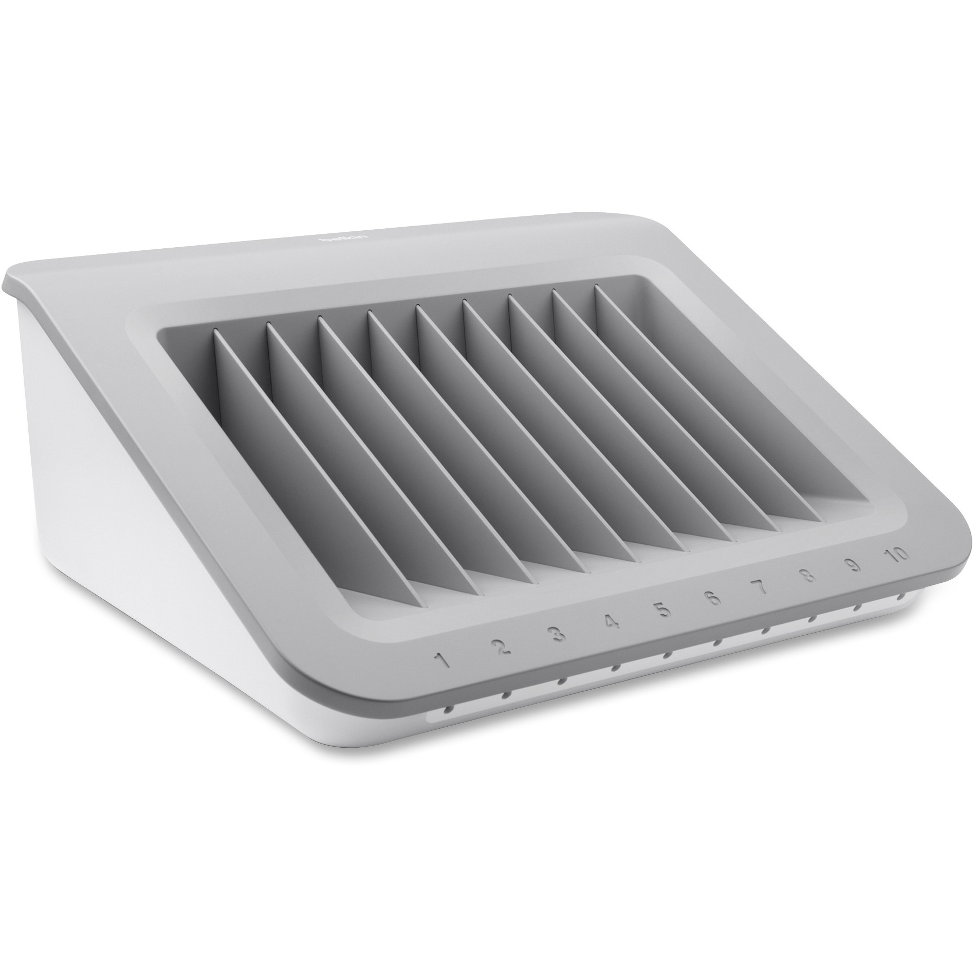 Belkin, BLKB2B074, Store-and-Charge Station, 1, Gray,White