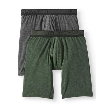 Jockey Life Men's Eco Outdoor Gear Long-Leg Boxer Brief - 2 pack ()