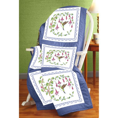 Janlynn Stamped Cross Stitch Quilt Blocks 18