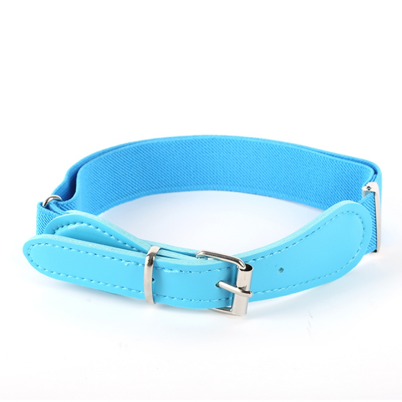 Waistband Pu Color Leather Baby Casual Buckle Adjustable Boy With Elastic Belt