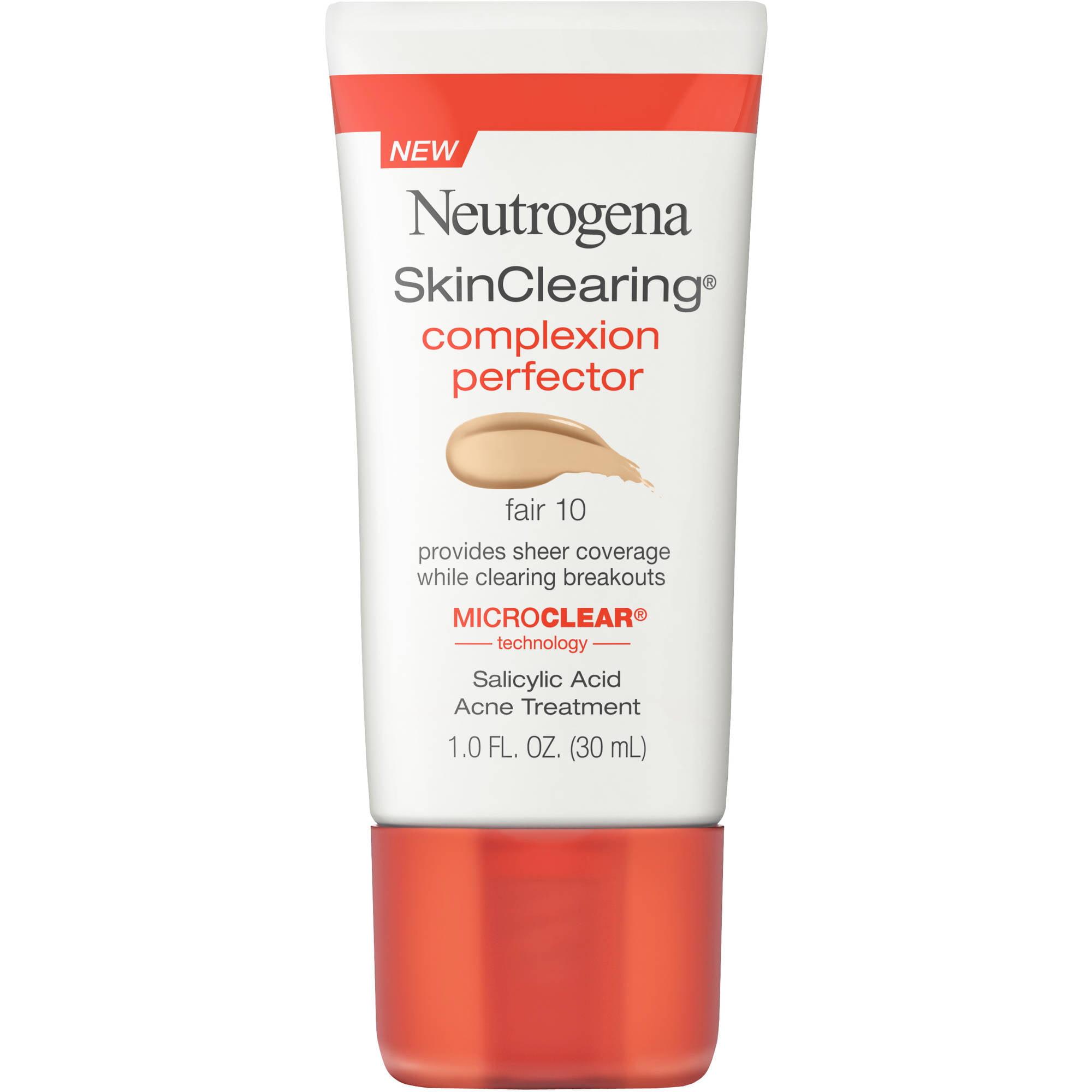Maquillaje Para Ojos Neutrogena SkinClearing tez ácido salicílico acné Tratamiento Perfeccionador, 10 justo, 1 fl oz + Neutrogena en Veo y Compro