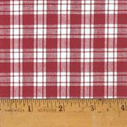 liberty red 4 plaid christmas homespun cotton fabric sold by the yard jcs fabric - Christmas Plaid Fabric