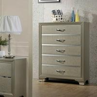 K&B Furniture Modern 5 Drawer Bedroom Chest