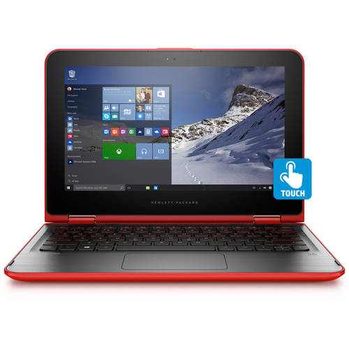 """HP11.6"""" Pavilion X360 Convertible Laptop PC with Intel Pentium N3700 Quad-Core Processor, 4GB Memory, Touchscreen, 500GB Hard Drive and Windows 10 Home (Assorted Colors)"""