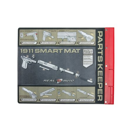 "1911 Smart Mat – 19"" x 16"" gun cleaning mat with parts tray, illustrated 1911 takedown instructions and more..., By Real Avid Ship from US"