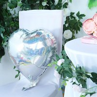 BalsaCircle 2 pcs 15-Inch wide Hearts Mylar Foil Balloons - Wedding Event Birthday Reception Party Wholesale Decorations Supplies