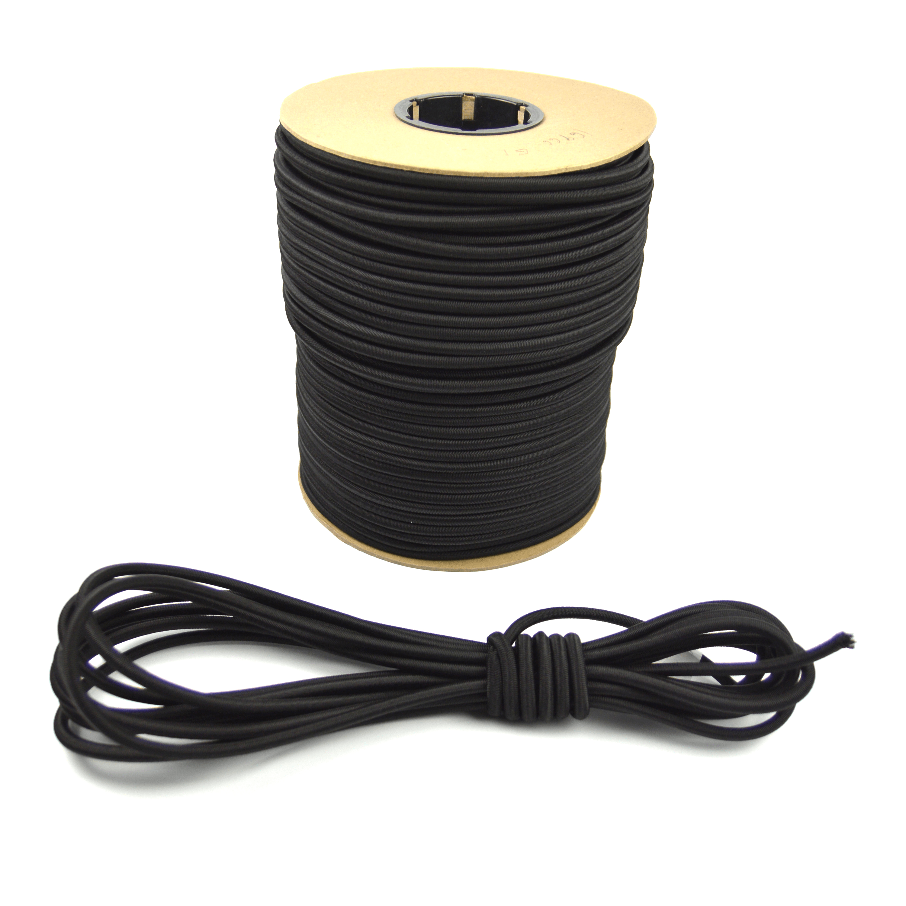 """10ft of Marine Masters 5/16"""" Black Bungee Shock Cord - Elastic Stretch Rope"""
