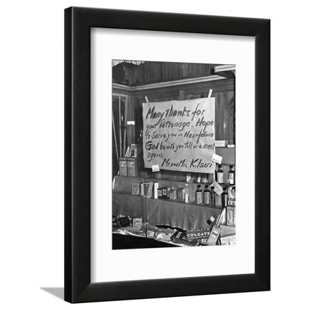 Good-Bye Sign Framed Print Wall Art By Russell Lee