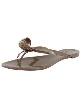 71c7b46dc3 Product Image Delman Womens Pique Stylish Jelly Sandal Shoe, Nude, US 5