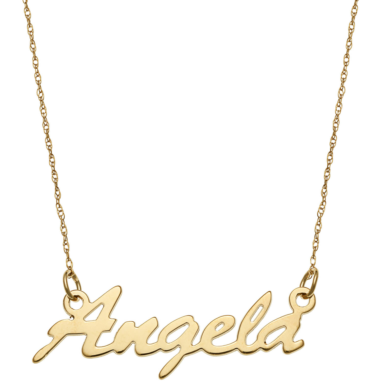 Personalized womens 14kt gold script name necklace 18 walmart mozeypictures Choice Image