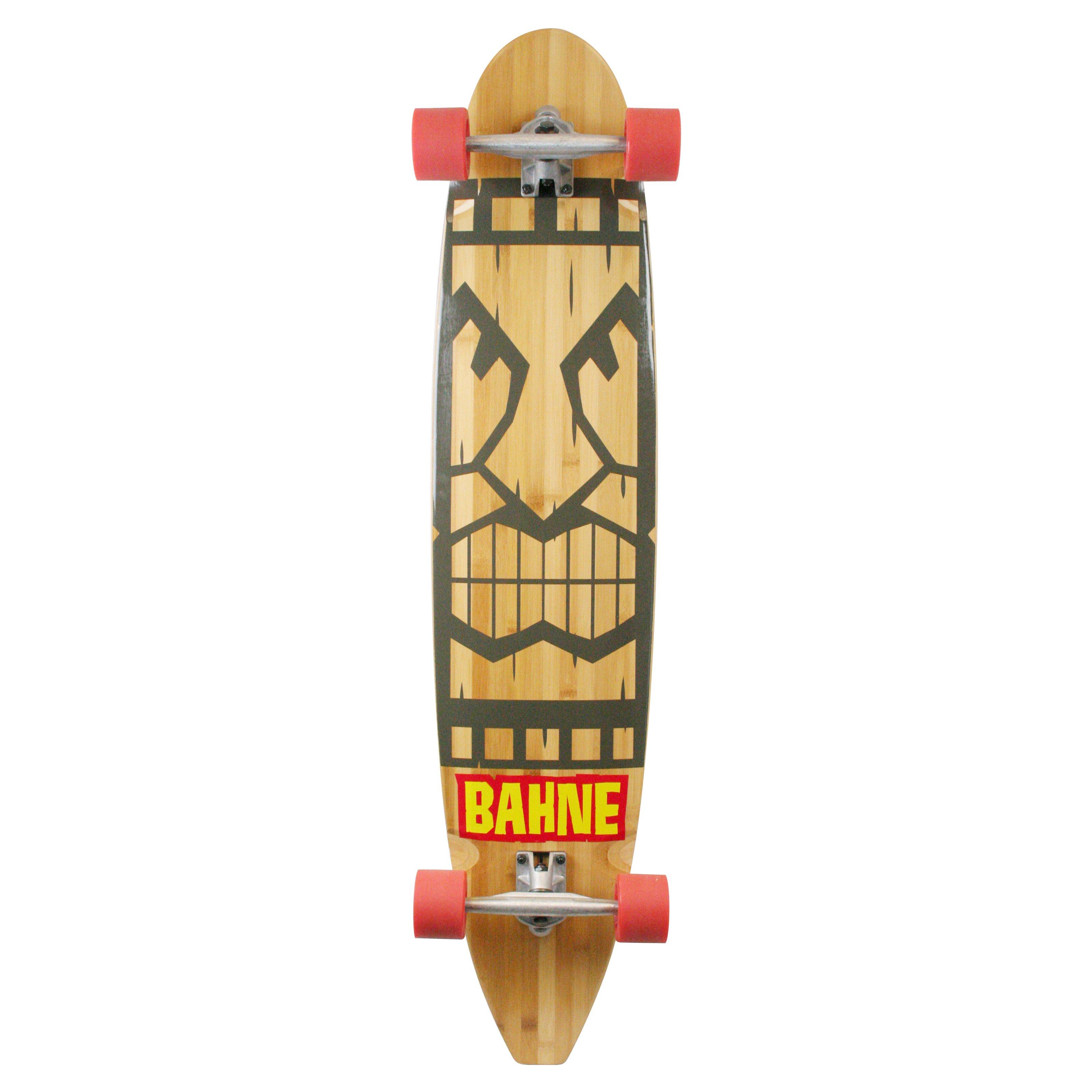 Made in Mars Bahne Bamboo Tiki Classic LongBoard Skateboard