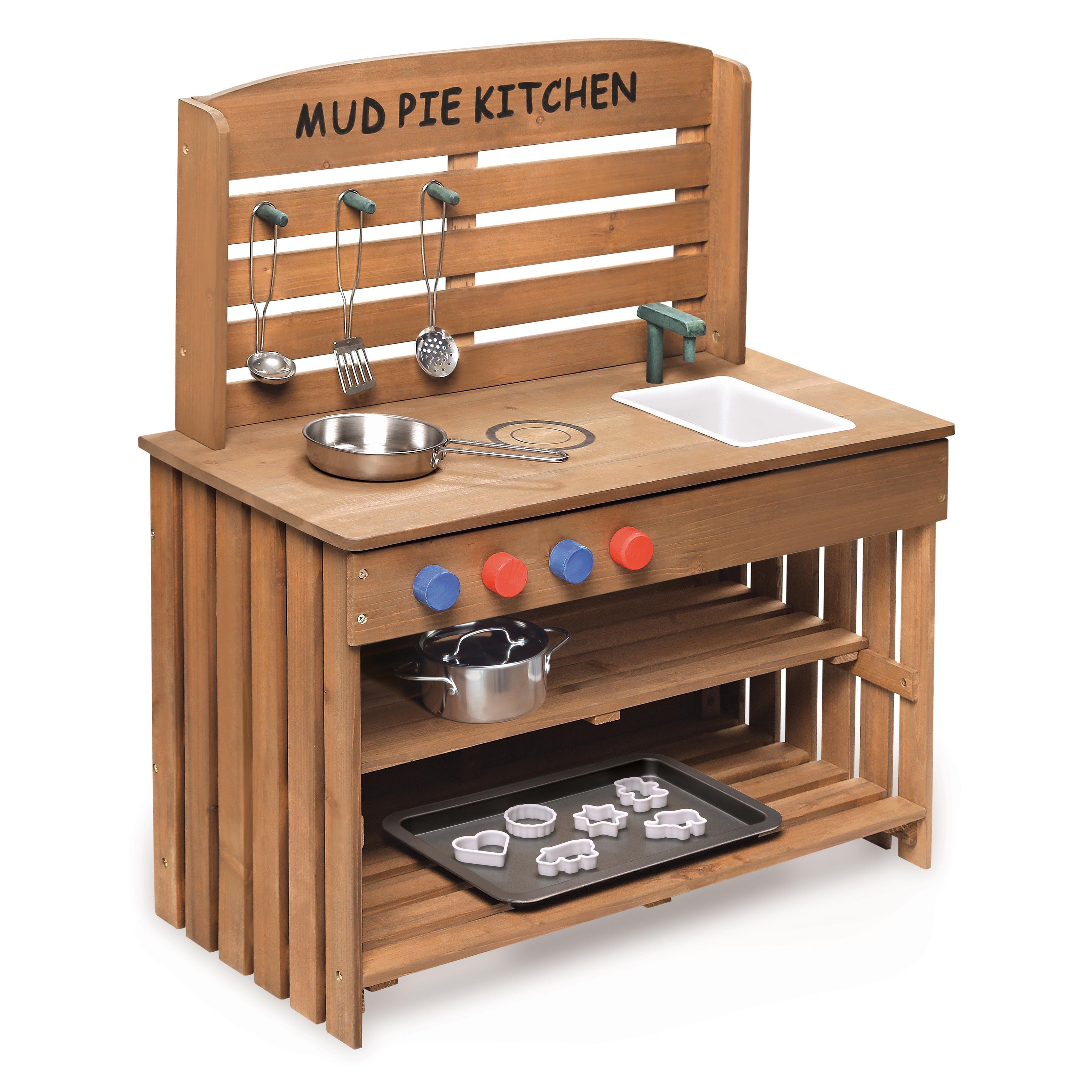 Charmant Outdoor Chef Mud Pie Kitchen With Cooking Accessories