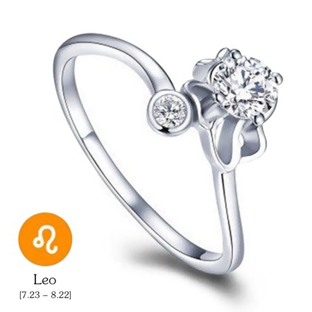 12 Constellations Exquisite Glistening Retro Lovers Ring Women Ancient Elegant Attractive Zinc Alloy Finger Ring