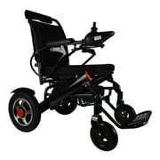 Foldable Electric Wheelchair with Remote Control, Medical Mobility Aid Scooter, Heavy Duty Power Wheelchair, Lightweight Electric Wheelchairs