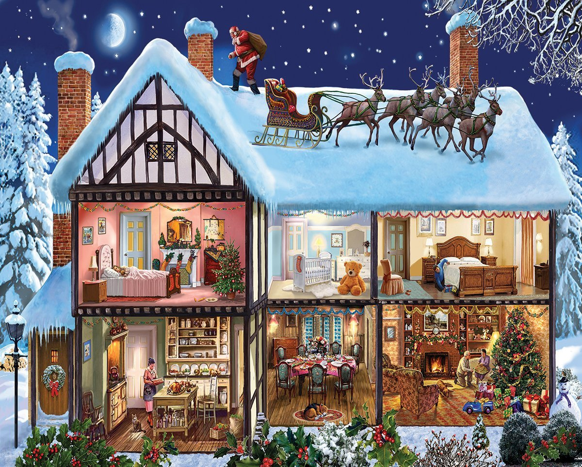 White Mountain Puzzles Christmas House 1000 Piece Jigsaw Puzzle by White Mountain Puzzles