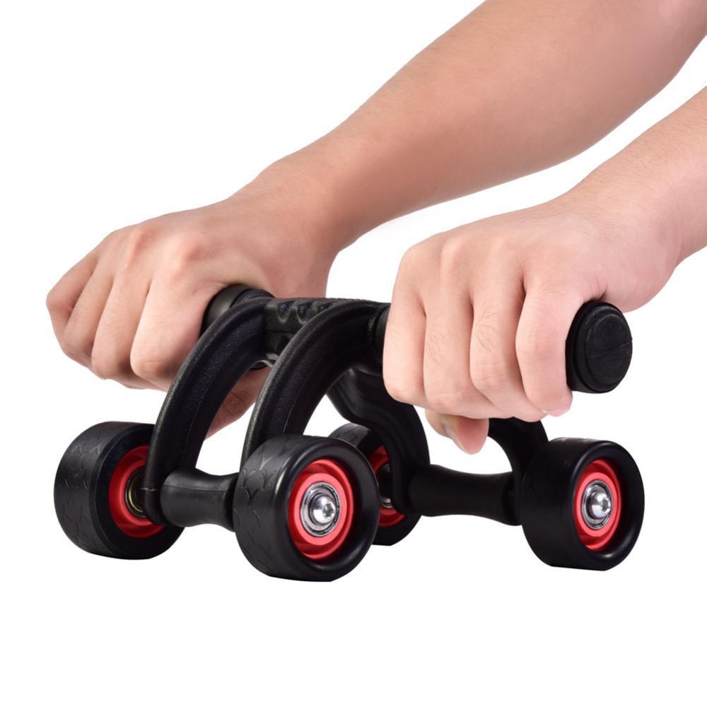 walfront 4 wheel fitness ab roller workout system. Black Bedroom Furniture Sets. Home Design Ideas