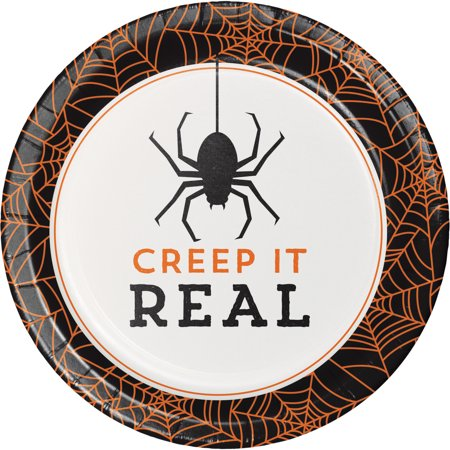 Creep it Real Halloween Dessert Plates, 8 - Halloween Themed Dessert