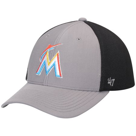 Miami Marlins '47 Talis MVP Adjustable Hat - Dark Gray/Black - OSFA