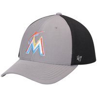 new arrival a28f1 1bf9b Product Image Miami Marlins  47 Talis MVP Adjustable Hat - Dark Gray Black  - OSFA