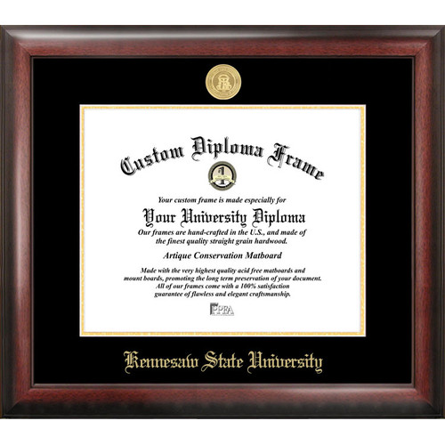"""Kennesaw State University 11"""" x 14"""" Gold Embossed Diploma Frame"""