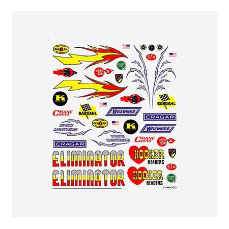 Derby Racers Dry Transfer Decals Hot Rod, Dry Transfer Decals, Hot Rod By - Pinecar Dry Transfer