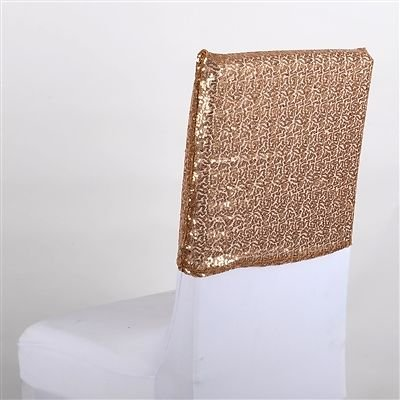 Duchess Sequin Chair Top Covers (Gold), Ship in 1 Business Day. By BBCrafts