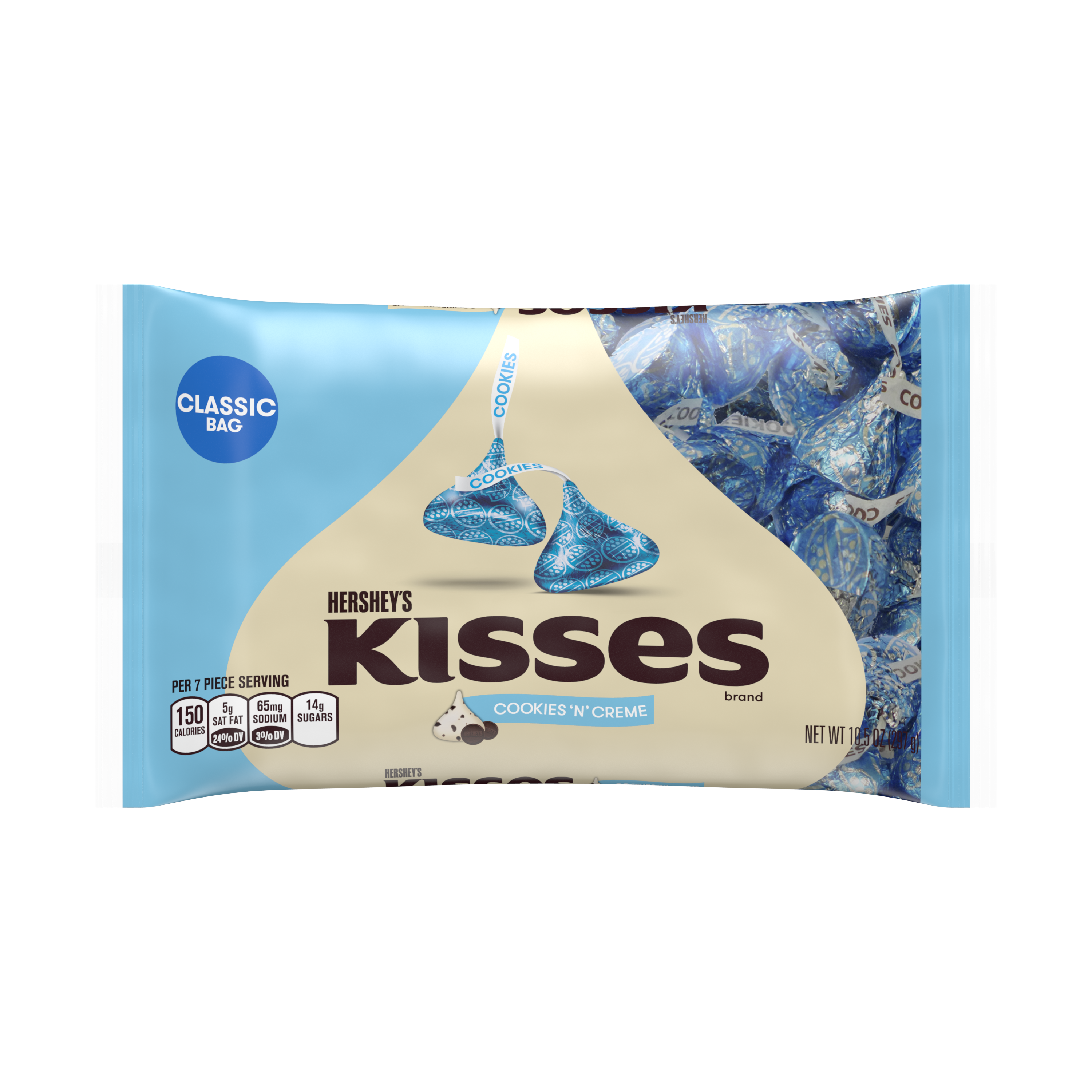 KISSES Cookies 'n' Creme Candy, 10.5 Ounces
