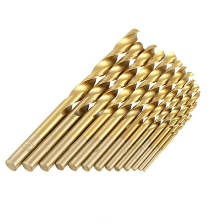 Wideskall® 13 Pieces Titanium Coated 1/16