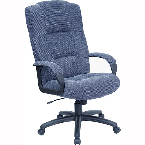fabric executive high-back office chair, gray - walmart