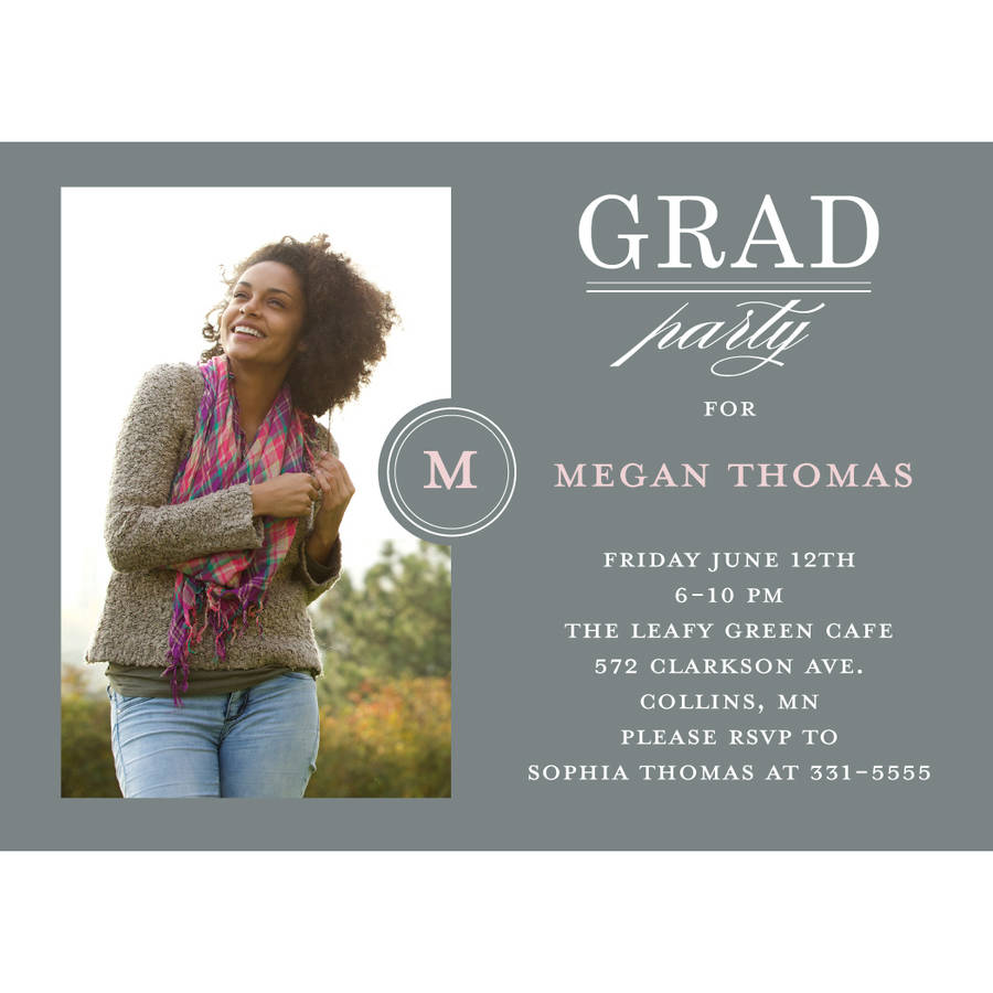 Fancy Filigree Graduation Invitation