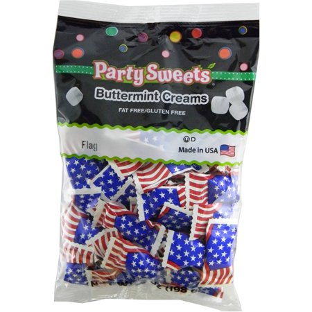 Party Sweets Patriotic American Flag Buttermint Creams Candy, 7