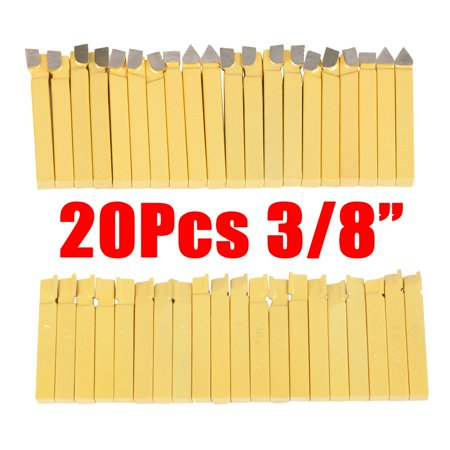 Yosoo 20Pcs 3 8 Lathe Tools Carbide Tipped Welding Milling Cutting Tur