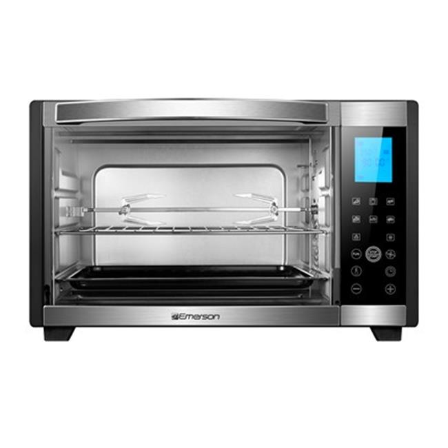 Stainless Steel 6-Slice Convection & Rotisserie Countertop Toaster Oven with Digital Touch Control, Black