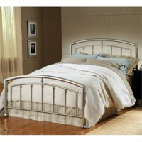 Bowery Hill Full Metal Spindle Bed in Matte Nickel