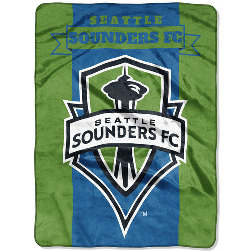 "The Northwest Company Green Seattle Sounders FC 60"" x 80"" Raschel Throw Blanket"