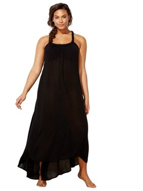 Swimsuits For All Women's Plus Size Braided Maxi Dress Swimsuit Cover Up