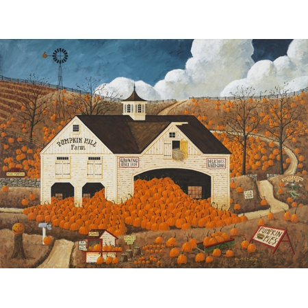 Pumpkin Hill Farm Poster Print by Art Poulin (Pumpkin Art)