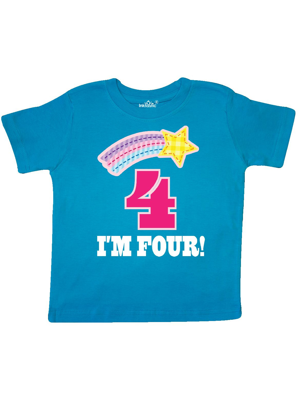 4th Birthday 4 Year Old Girls Rainbow Star Toddler T-Shirt