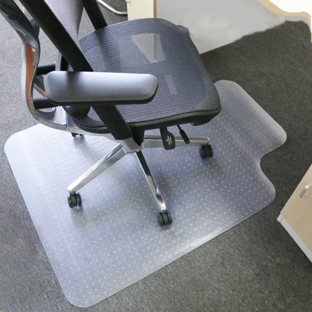 Zimtown Pvc Carpet Chair Mats For Carpeted Floors With Lip